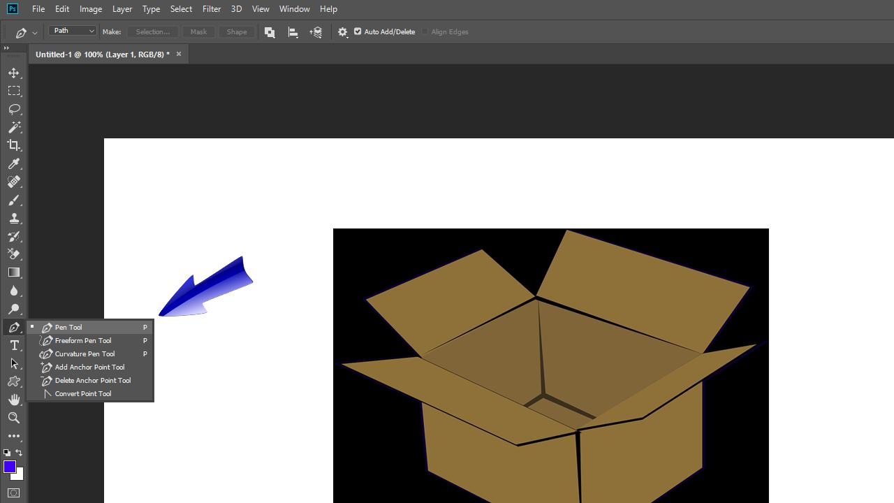Cara Menghapus Background dengan Pen Tool Pada Adobe Photoshop Untuk Pemula