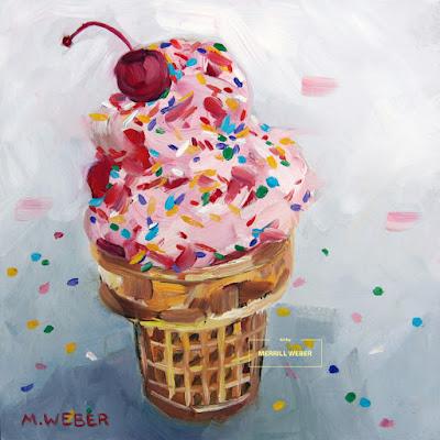 ice-cream-cone-oil-painting-merrill-weber