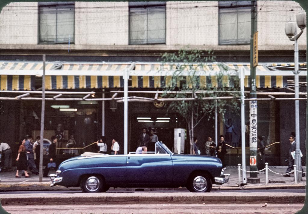 rare  wonderful color photographs capture daily transport  tokyo    vintage