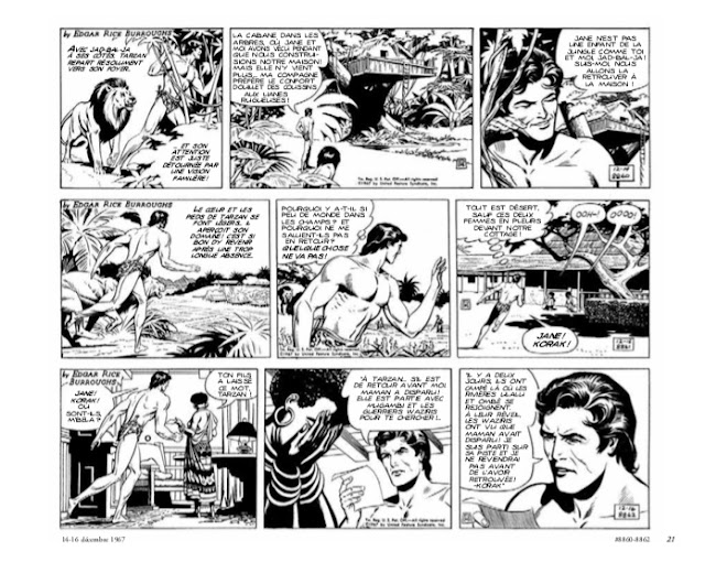Tarzan : l'intégrale Russ Manning Newspaper strips Volume 1 1967-1969 aux éditions Graph Zeppelin page 21