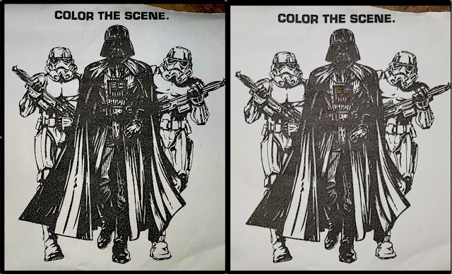 Darth Vader colouring picture