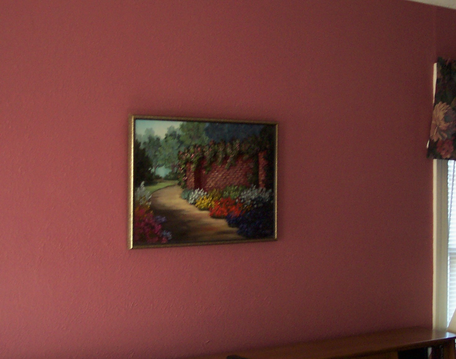 Dark Mauve Or Some Such Other Thing That Is Not Pink By The Way Isn T A Lovely Painting My Momma Did One Maybe It Was Friend Of Hers