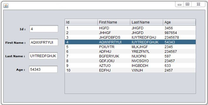 JAVA - How To Get Selected Row Values From JTable Into