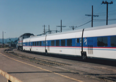 Amtrak Talgo Pendular 200 Demonstrator in Vancouver, Washington, in Summer 1997