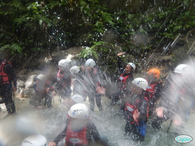Playing in the river during Kawasan Canyoneering