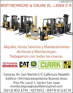 MONTACARGAS Y GRUAS EL LIDER C.A. en Paginas Amarillas tu guia Comercial