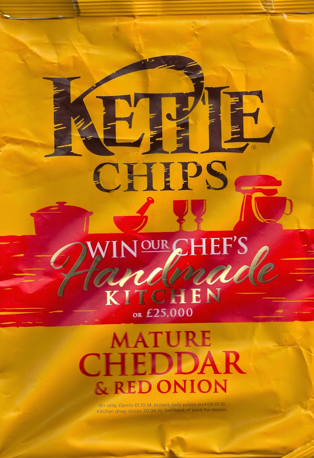 Kettle crisps mature cheddar