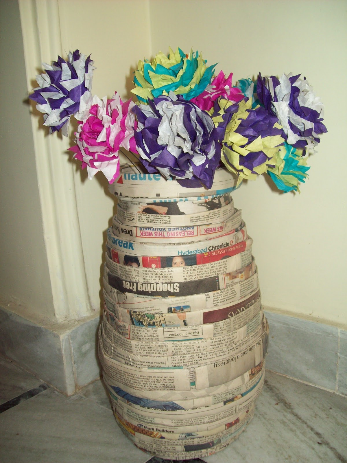 How To Make Flower Pot With Paper Kordurorddiner
