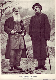 Tolstoy and Gorki (on the right)