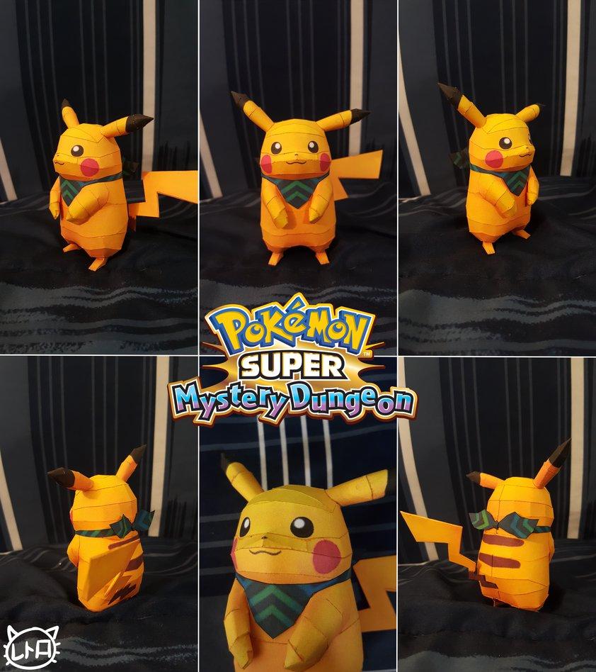 Pokemon Super Mystery Dungeon Pikachu Papercraft