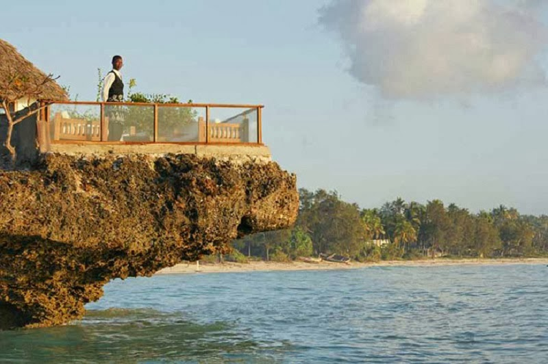 The Floating Rock Restaurant in Zanzibar