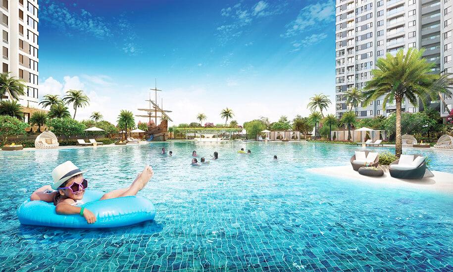 hồ bơi resort rộng lớn