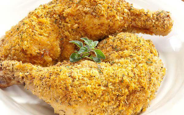Baked Fried Italian Herb Chicken Legs Recipe