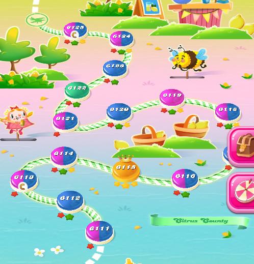 Candy Crush Saga level 6111-6125