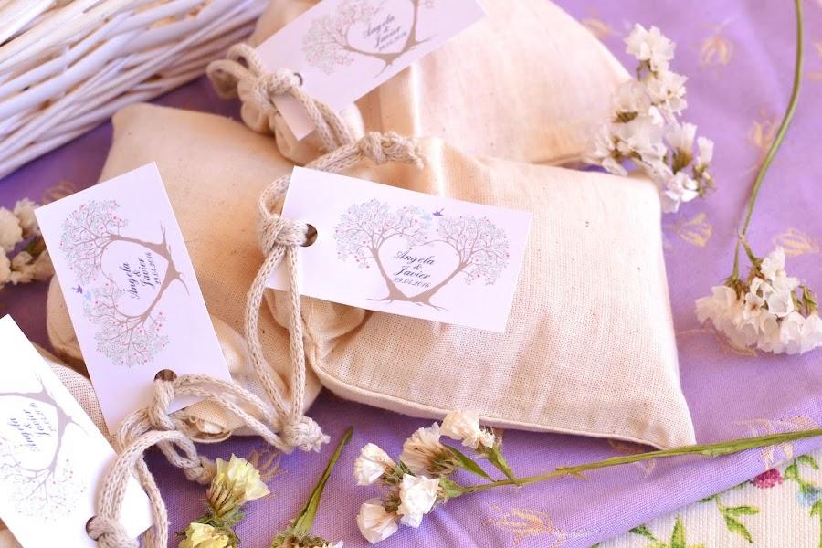 Saquitos aromaticos detalles naturales para bodas