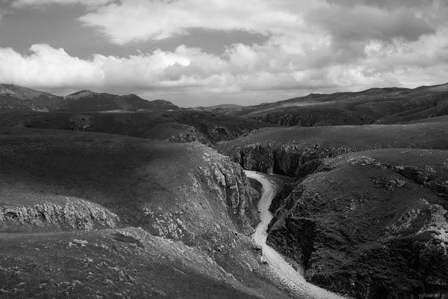 Fotografia del canyon dello Scoppaturo a Campo Imperatore