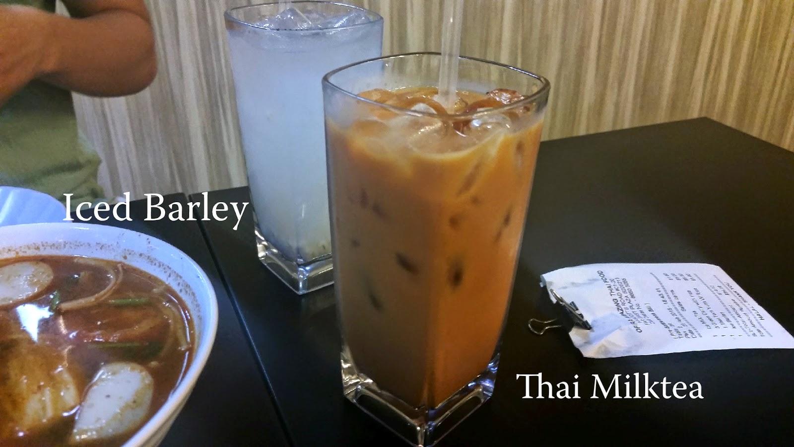 Iced Barley/Thai Milktea - $1.80 each