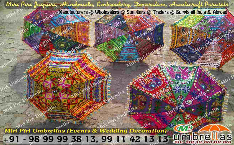 Rajasthani jaipuri wedding decorative umbrellas parasols decorated umbrella manufacturers decorated umbrella suppliers decorated umbrella wholesalers decorated umbrella manufacturers in junglespirit Images
