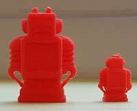 Orange 3D Robots