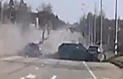 Carambola en Autopista