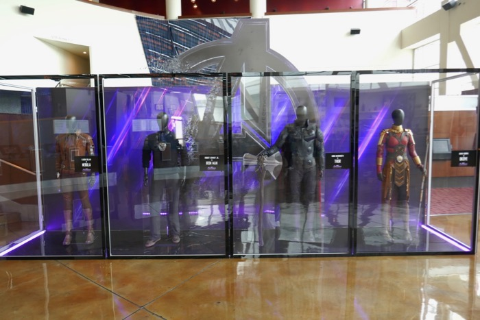 Avengers Endgame movie costume exhibit
