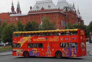 Экскурсионный автобус по Москве