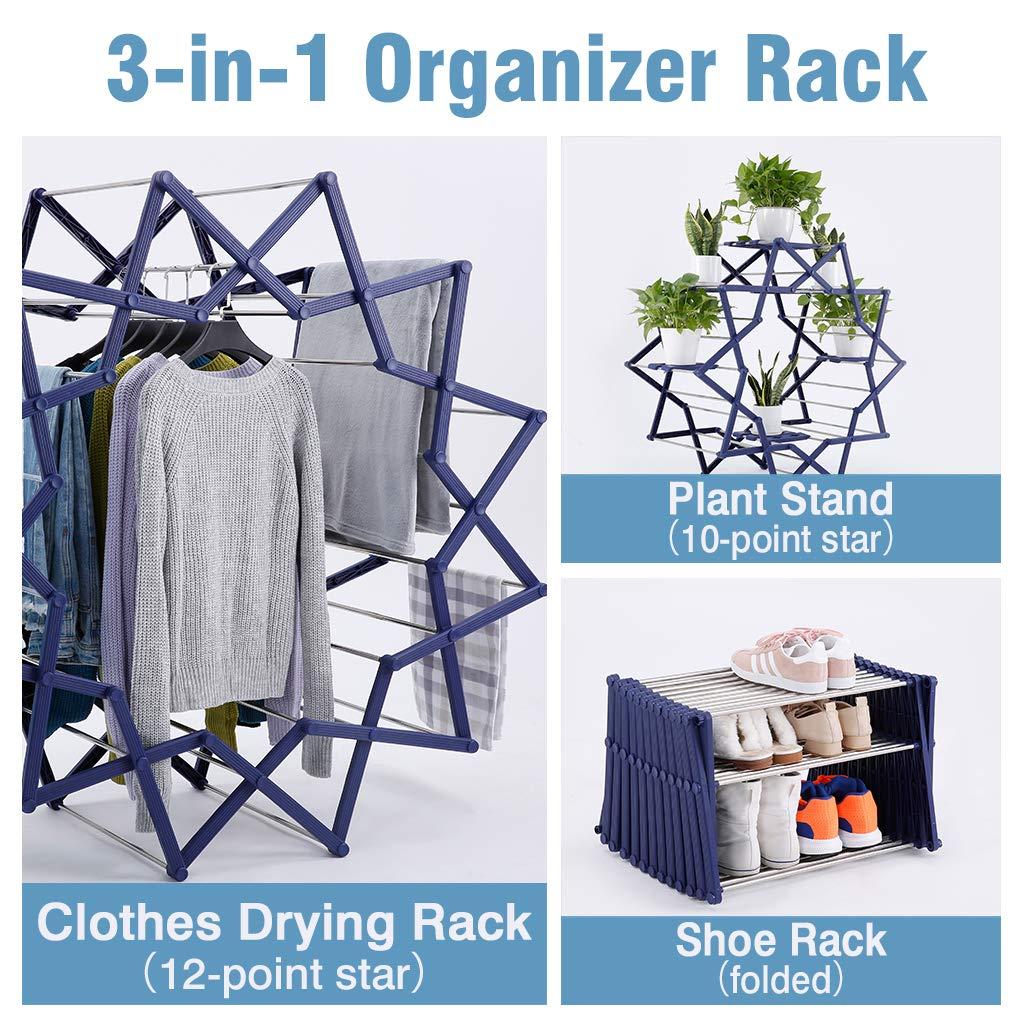 Amazon 1799 Reg 5998 3 In 1 Folding Drying Rack Qpanion