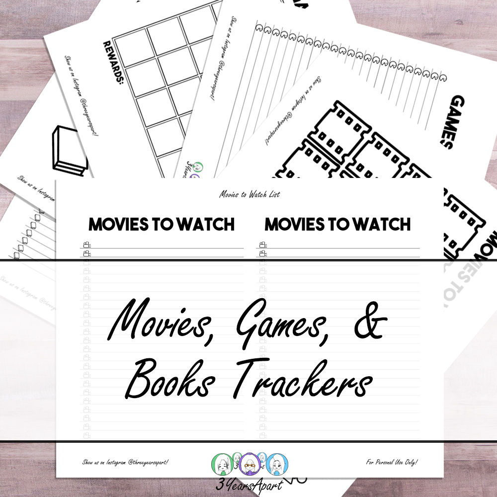 Books To Read Movies To Watch Games To Play Free Printable