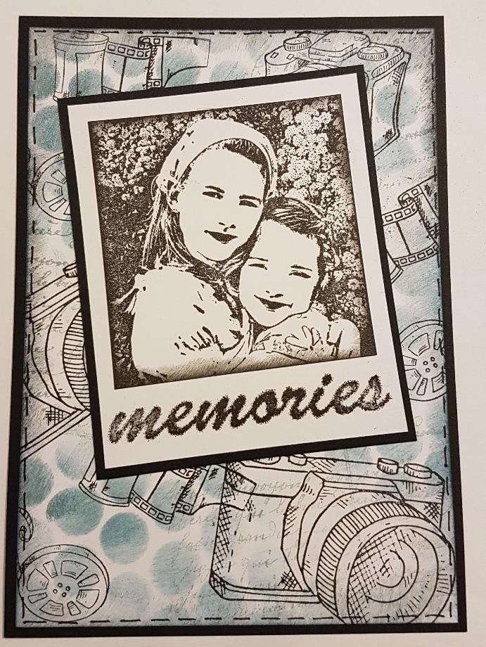 Mamapias stempelecke schwarz wei mit polaroid rahmen - Polaroid karten ...