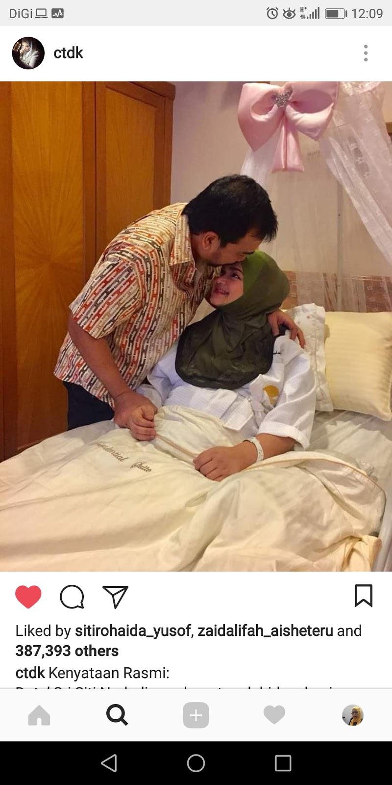 Tahniah Dato Siti Selamat Bersalin Baby Girl