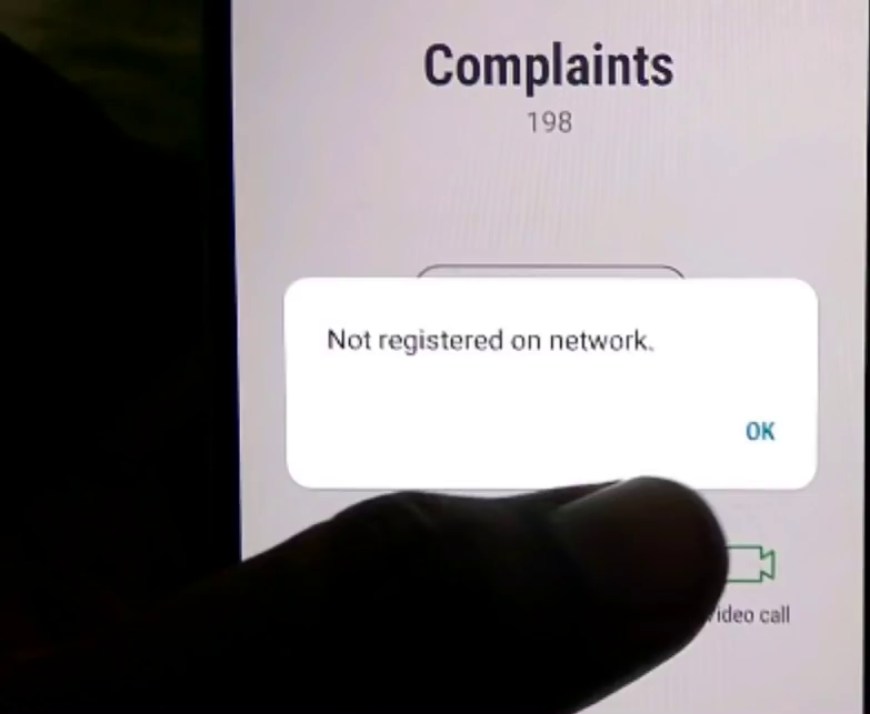 Samsung j710f not registered on network or j710fn emergency