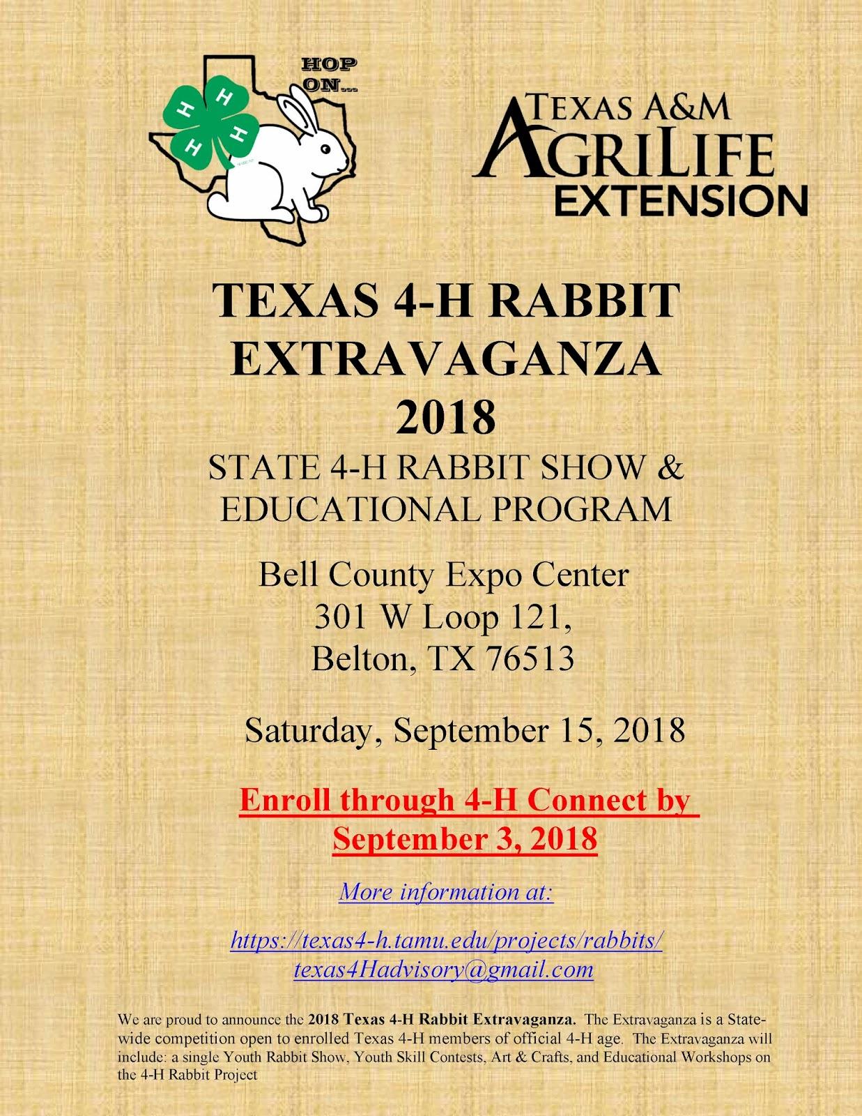 Texas 4-H Rabbit Extravaganza | Texas 4-H Practitioner's Blog