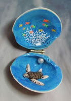 Manualidades : conchas pintadas a mano FAUNA MARINA