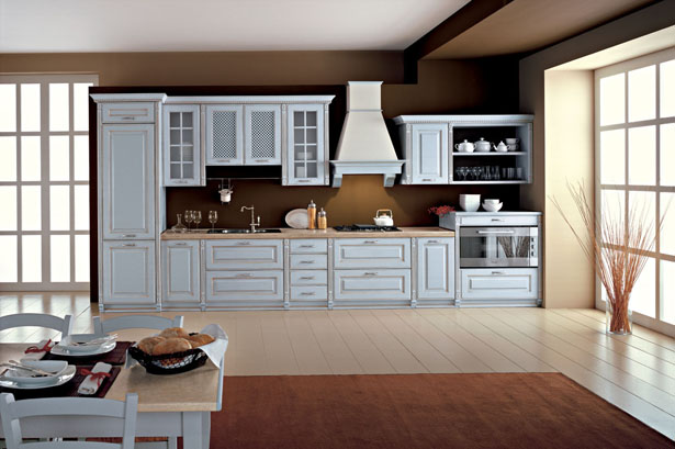 15 exclusive timeless kitchen cabinets designs and ideas for Single wall kitchen designs