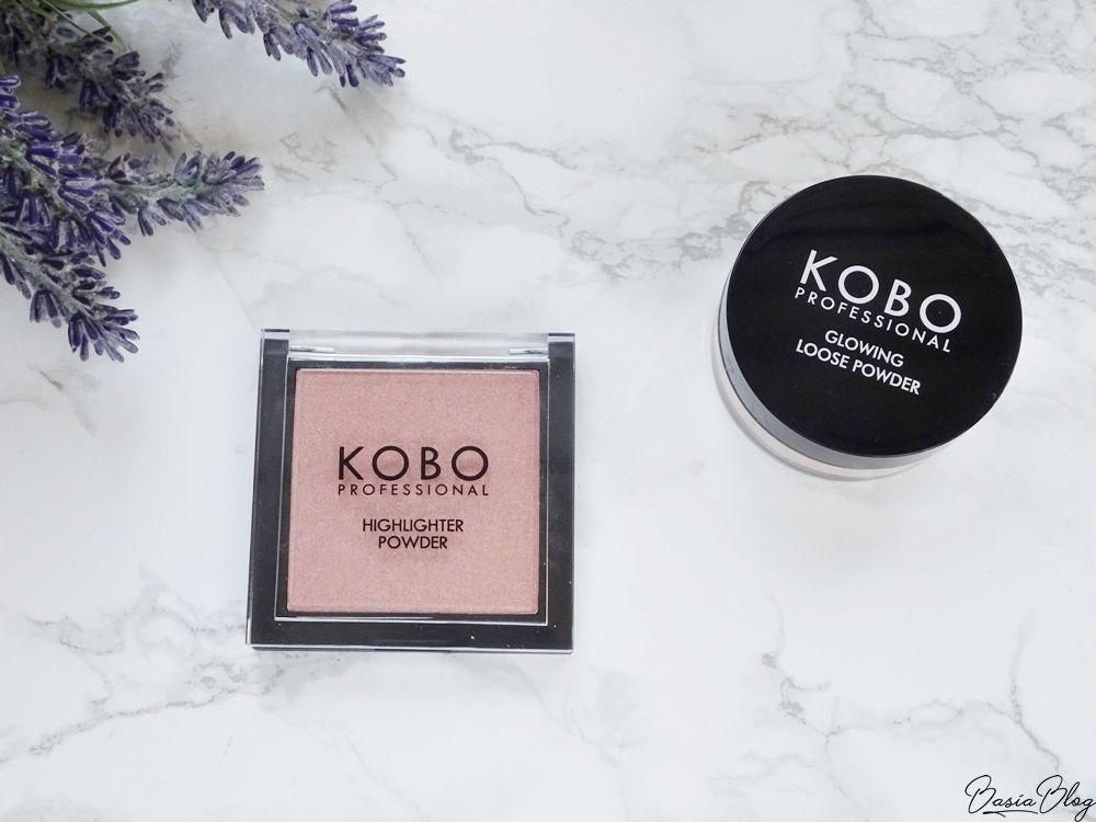 prasowany rozświetlacz Kobo 314 Mirage, Kobo Professional Highlighter Powder, sypki rozświetlacz Kobo Rosy Sunrise, Kobo Professional Glowing Loose Powder