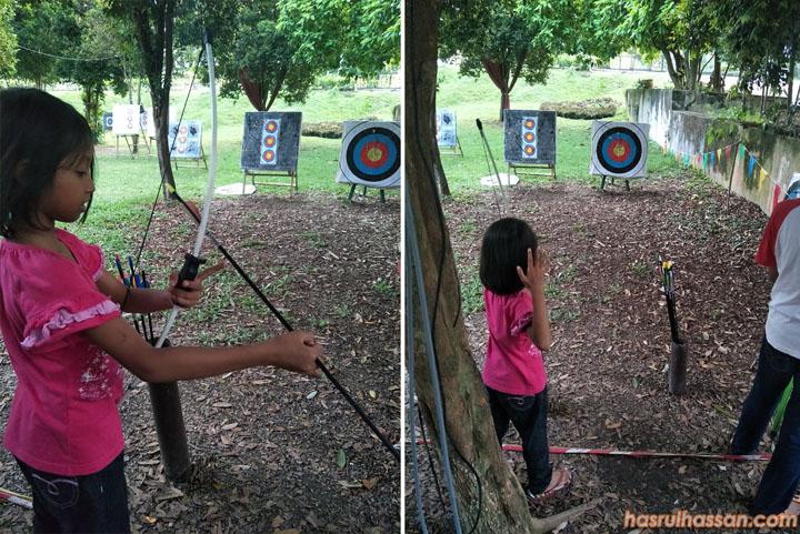 Aktiviti Riadah Memanah di Laman Budaya Kuala Kangsar