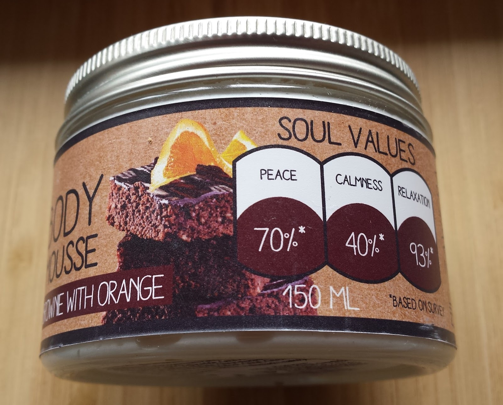 body mousse BIOLOVE brownie with orange