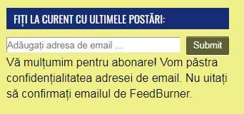 Vă mulțumim pentru abonare, vom păstra confidențialitatea adresei de email.
