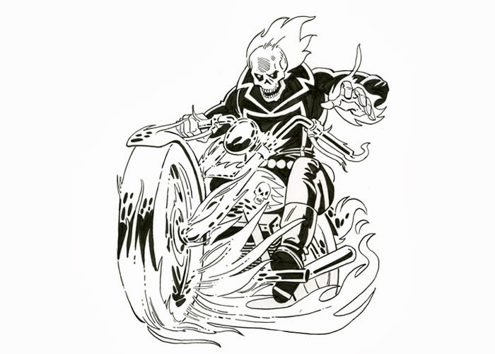 ghost rider free coloring pages - photo#10