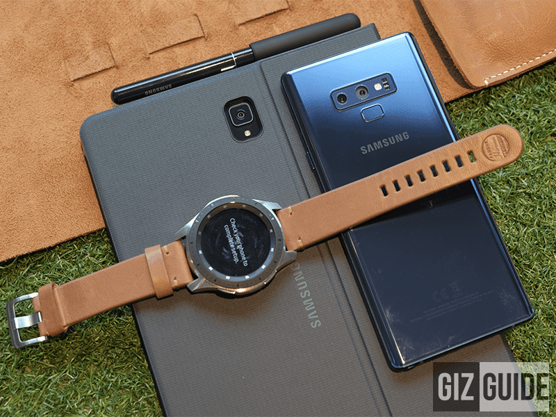 Samsung Galaxy Watch, Samsung Galaxy Note9, and Samsung Galaxy Tab S4