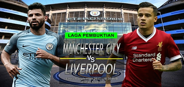 Prediksi Taruhan Bola 365 - Manchester City vs Liverpool 9 September 2017