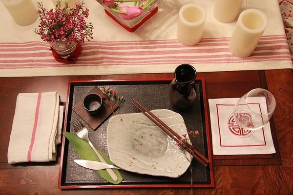 decorar mesa almoço japones