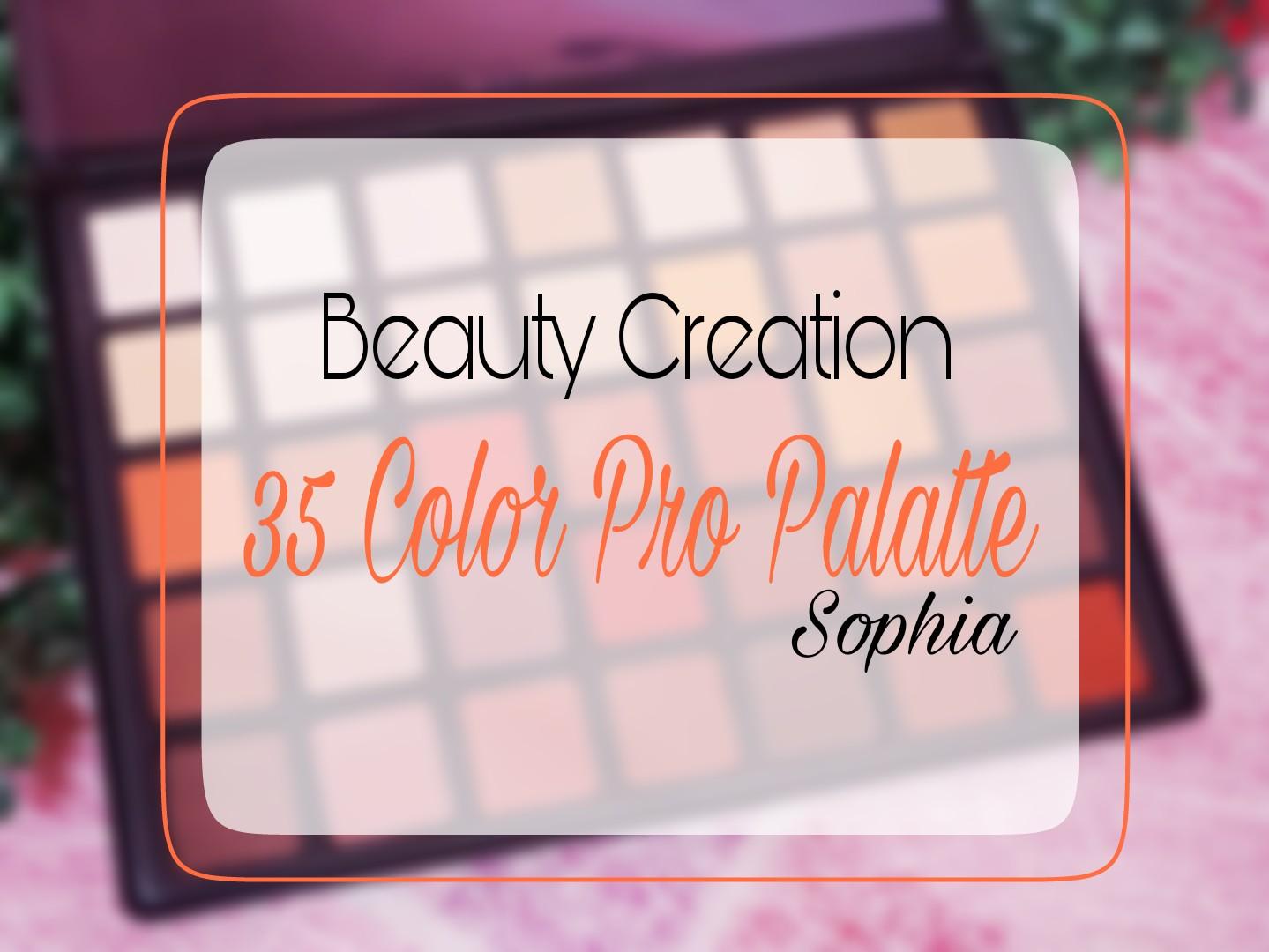 Review Beauty Creation 35 Color Pro Palette Sophia