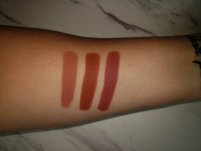 Review: ColourPop Matte Lux Lipsticks in Third Eye, Little League, and Money Moves
