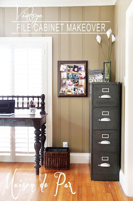 Vintage file cabinet makeover- Maison de Pax