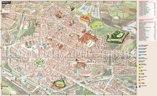 Mapa da cidade de Arezzo