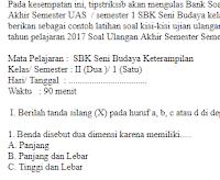 Soal-Ujian-Ulangan-UAS-UKK-SBK-Seni-Budaya-kelas-2-SD-semester-1