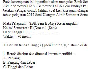 Soal-UAS-UKK-SBK-Seni-Budaya-kelas-2-SD-semester-1