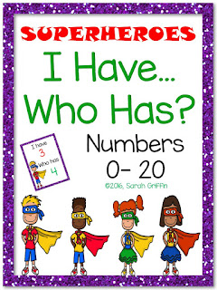 https://www.teacherspayteachers.com/Product/I-Have-Who-Has-Numbers-to-20-Game-Superheroes-2541049