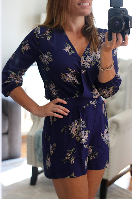 navy floral jumper